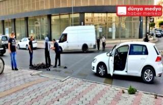 İSKENDERUN'DA OTOMOBİL-BİSİKLET KAZASI!