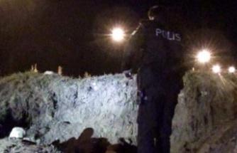 İzmir'de kaçak kazı yapılan alanda göçük meydana geldi