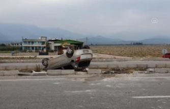 Hassa'da Bir Araba Takla Attı!