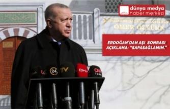 """Erdoğan'dan Aşı Sonrası Açıklama: """"Sapasağlamım!"""""""