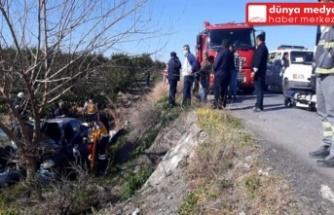 Erzin'de Bir Araç Şarampole Uçtu: 1 Ölü