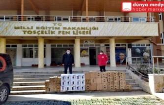 Kızılay'dan Okullara Temizlik Malzemesi!