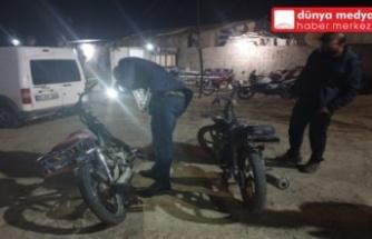 Reyhanlı'da çalıntı motorlar polis denetimine takıldı