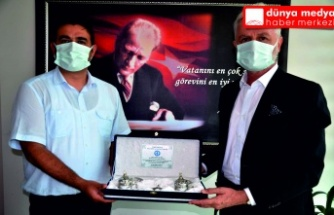 İTSO Başkanı Yılmaz İskenderun  İlçe sağlık Müdürü Yeter'i ziyaret etti