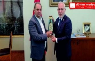 Özçelik iş sendikası Genel Başkanı  Değirmenci Başkan Tosyalı'yı ziyaret etti