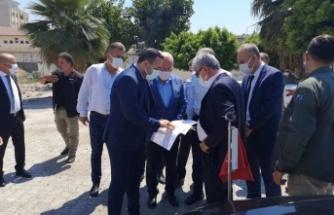 Vali Doğan İskenderun'da    Pac Camii Projesini İnceledi