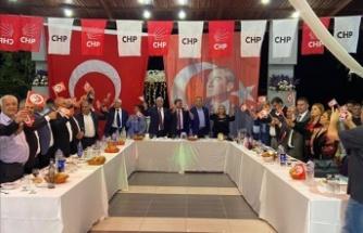 CHP'Lİ GÖREVLİLER   ARSUZ'DA DÜZENLENEN   GECEDE BULUŞTU