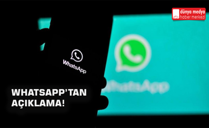 Whatsapp'tan Açıklama!