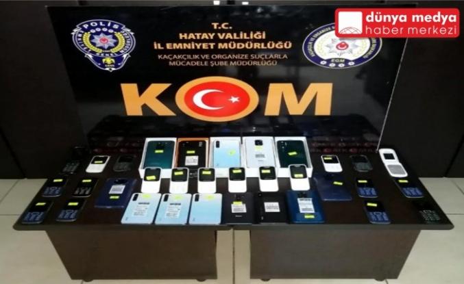 İskenderun'da 33 Kaçak Telefon Ele Geçirildi!