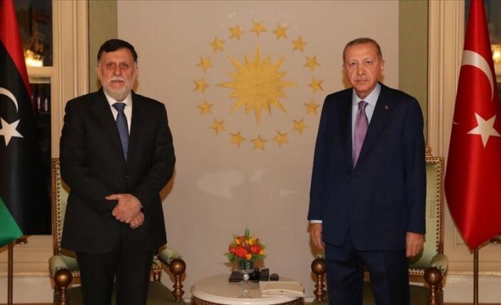 Cumhurbaşkanı Erdoğan Libya Başbakanı Serrac'ı kabul etti